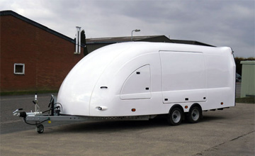 Enclosed car trailers Portsmouth Hampshire, covered car trailer hire, race shuttles for sale, covered car trailers UK sales