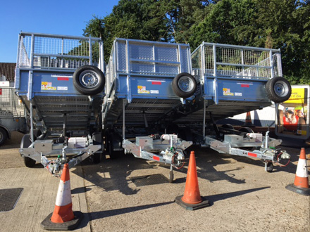 Debon tipper trailers UK sales from Blendworth Trailer Centre, Portsmouth
